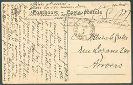 C.P. Du Château D'Ingelmunster En S.M. + C INGELMUNSTER 6-X-1914 Vers Anvers - 12043 - Guerra '14-'18