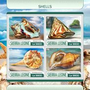 SIERRA LEONE 2017 - Shells. Official Issue. - Schelpen