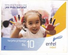 TARJETA DE BOLIVIA DE LA COMPAÑIA ENTEL - Bolivia