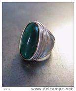 Grosse Bague Argent Aventurine / Great Silver Aventurina Ring - Bagues