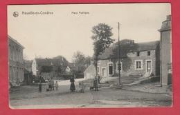 Neuville-en-Condroz - Place Publique ... Carte Animée ( Voir Verso ) - Neupre