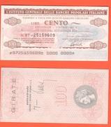 Miniassegno Banche Popolari 100 Lire 1977 Autostrade - [10] Assegni E Miniassegni