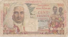 BILLETE DE GUADELOUPE OUTRE-MER DE 100 FRANCS AÑOS 1947-49 (BANK NOTE) - Otros