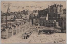 Lausanne - Le Grand Pont Et Maison Mercier - Animee - Photo: Jullien Freres No. 2460 - VD Waadt