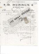 88 - Vosges - LE THILLOT - Facture BURRUS - Chaussures Chevillées Bois - 1912 - REF 69B - 1900 – 1949