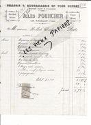 88 - Vosges - LE THILLOT - Facture POURCHER - Sellerie Et Bourrellerie - 1912 - REF 69B - 1900 – 1949