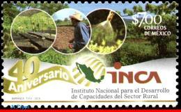 Ref. MX-2839 MEXICO 2013 - INCA, 40TH ANNIV., FARM,, MNH, AGRICULTURE 1V - Mexico