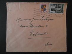 1954 - AFFRANCHISSEMENT COMPOSÉ SUR LETTRE Avec ARMOIRIE DAUPHINE + CENTENAIRE JUMIEGES OMEC PARIS DOUANE - Marcophilie (Lettres)