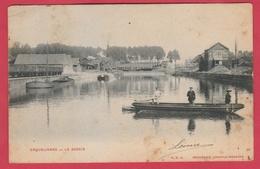Erquelinnes - Le Bassin ... Embarcation Sur La Sambre, Péniches, Industries - 1904 ( Voir Verso ) - Erquelinnes