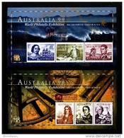 AUSTRALIA - 1999  NAVIGATORS TWO  MS  OVERPRINTED  APF  MINT NH - Blocchi & Foglietti