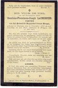 DP - E.H. LAUMOSNIER Henricus -  °GELUWE En Overleden Te BRUGGE - Pastoor Prinselijk Begijnhof - Devotieprenten