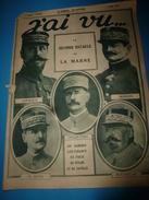 1918 J'AI VU:Les MARSOUINS;Collection-Bagues-Cigares;Allemands à Table;MOTO-MITRAILLEUSES British;Orphelins De Grand-Val - French