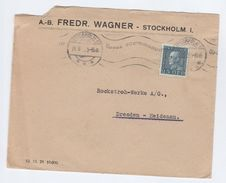 1935 SWEDEN Stamps COVER AB Fredr.Wagner To Dresden Germany - Sweden