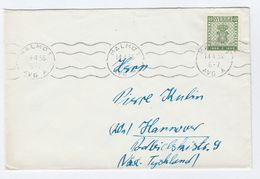1956 Malmo SWEDEN Stamps COVER - Sweden