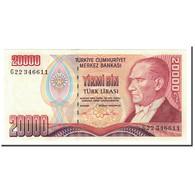 Turquie, 20,000 Lira, 1970, KM:202, 1995, SPL - Turquie