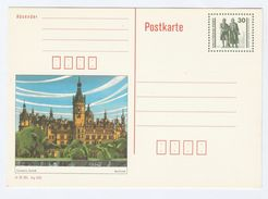 1985 GERMANY Postal STATIONERY CARD Illus SCHWERIN CASTLE Palace Stamps Cover - Castles