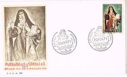 24907. Carta Exposicion HOSPITALET LLOBREGAT (barcelona) 1971. Santa Teresa - 1931-Hoy: 2ª República - ... Juan Carlos I