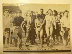 LES TONDUES DE BORDEAUX - 29 Août 1944 - Après La Libération - Carte-photo Exceptionnelle - Photos