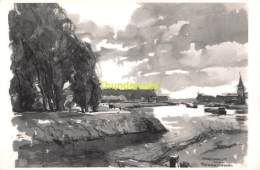 ILLUSTRATEUR HERMAN VERBAERE SCHELLEBELLE ( KAART 18 Cm X 11,5 Cm , Blanco Ommezijde ) - Wichelen