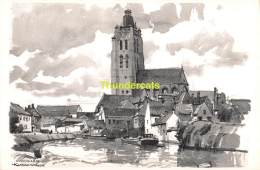 ILLUSTRATEUR HERMAN VERBAERE  OUDENAARDE  ( KAART 18 Cm X 11,5 Cm , Blanco Ommezijde ) - Oudenaarde