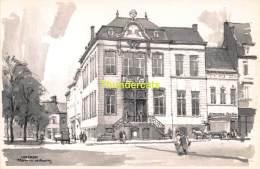 ILLUSTRATEUR HERMAN VERBAERE  LOKEREN   ( KAART 18 Cm X 11,5 Cm , Blanco Ommezijde ) - Lokeren