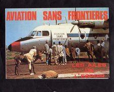 CPM - AVIATION SANS FRONTIERES -  - Carte Double - - Avions