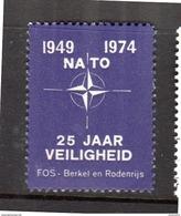 NATO 1974 Cinderella MNH FOS Berkel En Rodenrijs (n304) - Holanda