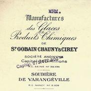 1944 VOIR HIST. RHONE POULENC HISTOIRE DES SALINES SOUDIERE DE VARANGEVILLE Meurthe Et Moselle => VERRERIE De PortiEUX - Francia