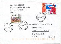 Poland Cover Sent To Denmark Krakow 1-6-2005 - 1944-.... Republic