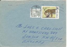 Poland Cover Sent To Denmark Krakow 21-5-1979 Topic Stamp Jaguar - 1944-.... Republic