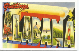 Greetings From Alabama,  Addressed To ANDORRA,with Arrival Postmark - Etats-Unis