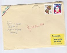 1994 USA COVER CHRISTMAS Stamps To  Germany - United States
