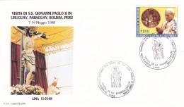 Peru 1988 Papst Giovanni Paolo II In Lima . Mi: 1371 - Christianisme