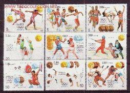 CUBA 1992 - OLYMPICS BARCELONA 1992 - MEDALLAS - YVERT 3243-3251 - MICHEL 3614-3622 - SCOTT 3448-3456 - Volleyball