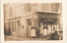 Dépt 27 - VERNEUIL-SUR-AVRE - Carte-photo DEVANTURE Café TOUCHARD (BOUSSARD Successeur), AUTOMOBILE CLUB DE L'OUEST - Verneuil-sur-Avre