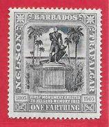 Barbade N°76 1f Gris 1905 * - Barbados (...-1966)