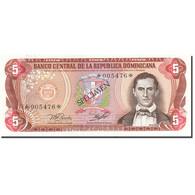Dominican Republic, 5 Pesos Oro, 1977-1980, 1978, SPECIMEN, KM:118s1, NEUF - Dominicaine
