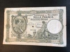 Belgium 1939 1000 Francs / 200 Belgas - 1000 Francs & 1000 Francs-200 Belgas