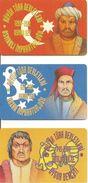 3 CARTES^-PUCE-TURQUIE-2002-IMPARATORLUGU Et DEVLETI-TBE - Turquie