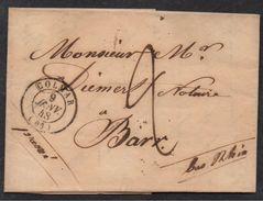 COLMAR - ALSACE / 1848 TYPE 15 SUR LETTRE POUR BARR (ref 7147) - Elsass-Lothringen