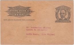 1904-EP-100 CUBA 1904 POSTAL STATIONERY JOSE MARTI. IMPRESO REVISTA LITERARIA SENSACION 1946. - Lettres & Documents