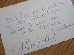 Alice TISSOT (1890-1971) Actrice CINEMA [ Louis Feuillade ]. AUTOGRAPHE - Autographs