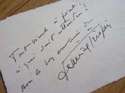 Janine CRISPIN (1911-2001) Actrice CINEMA & THEATRE. Autographe [ Belle Soeur Joseph Kessel ] - Autographs