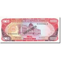 Dominican Republic, 1000 Pesos Oro, 1977-1980, 1980, SPECIMEN, KM:124s1, NEUF - Dominicaine