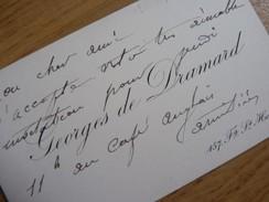 Georges DE DRAMARD (1838-1900) Peintre [ élève Léon Bonnat ] Cabourg Dives. AUTOGRAPHE [ Bretteville Sur Dives ] CDV - Autographes