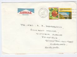 1985 NEW ZEALAND Stamps COVER With NICE AIRMAIL LABEL - New Zealand