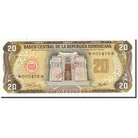Dominican Republic, 20 Pesos Oro, 1977-1980, 1978, SPECIMEN, KM:120s1, NEUF - Dominicaine