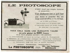 Pub De Presse 16,5 Cm X 12 Cm - Mars 1929 - Le Photoscope S.A. - 121 Rue Berkmans - Bruxelles - Publicité