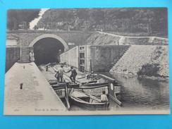 94 : JOINVILLE Le PONT : RIVE De La MARNE Le CANAL SOUTERRAIN , C.P.A.:carte En Très Bon état  , Animée - Joinville Le Pont