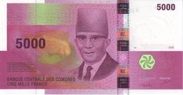 COMOROS P. 18a 5000 F 2005 UNC - Comoros